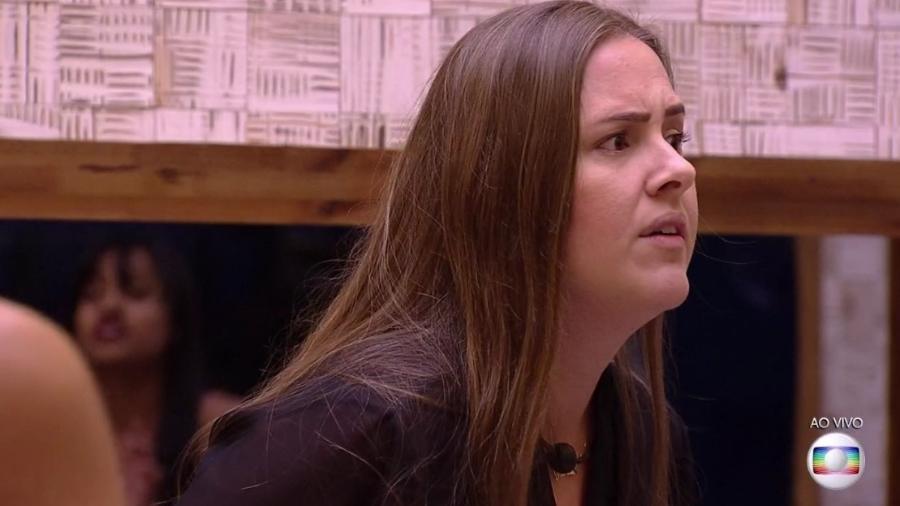 """Patrícia está na penúltima colocação do """"queridômetro"""" - Reprodução/Globoplay"""