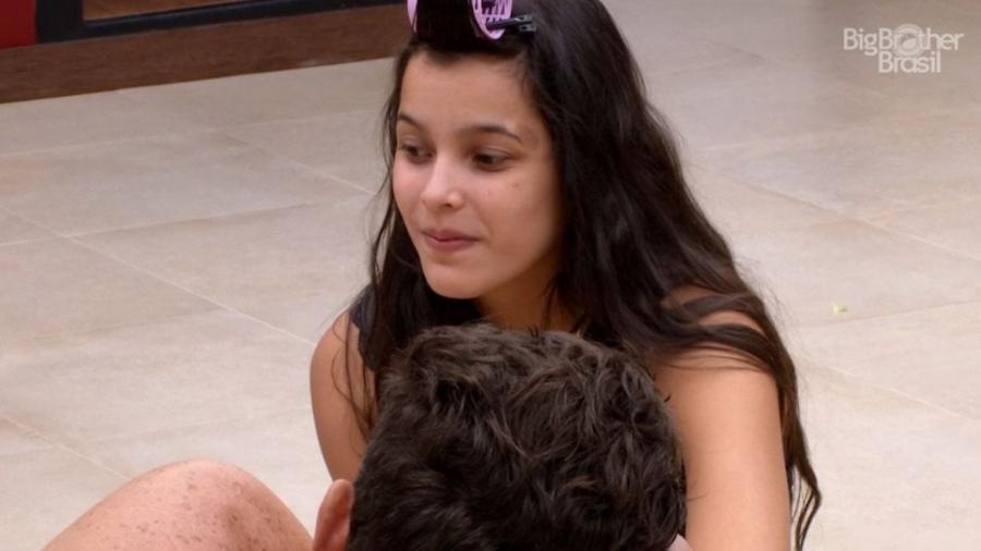 Emilly elogia postura de Ieda - Reprodução/TV Globo
