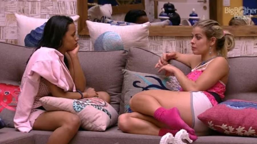 Gleici e Jaqueline conversam sobre imunidade  - Reprodução/Tv Globo