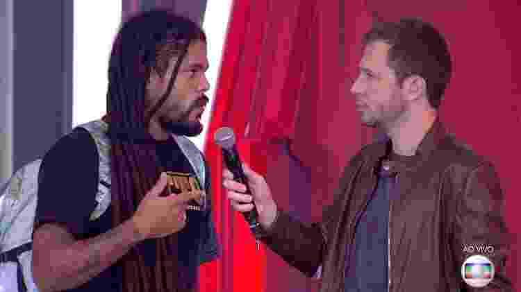 VIegas conversa com Leifert - Reprodução/TvGlobo - Reprodução/TvGlobo