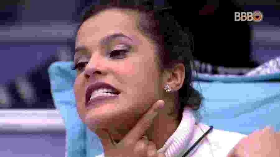 Emilly perde o controle depois de ser indicada ao paredão  - Reprodução/TV Globo