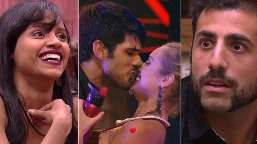 """Retorno de Gleici, """"traição"""" de Lucas e história de Kaysar marcaram o """"BBB18"""" - Montagem/Reprodução/TV Globo"""