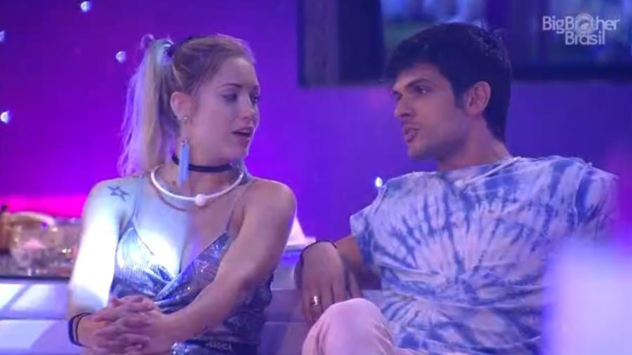 Lucas diz para Jéssica aproveitar que Breno está solteiro  - Reprodução/Tv Globo