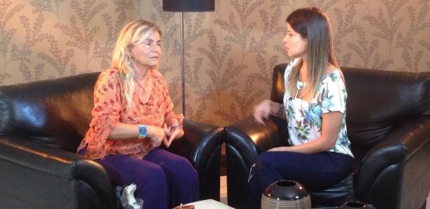 """Brita Brazil, mãe de Rian Brito, é entrevistada no programa """"Gugu"""" - Divulgação/Record"""