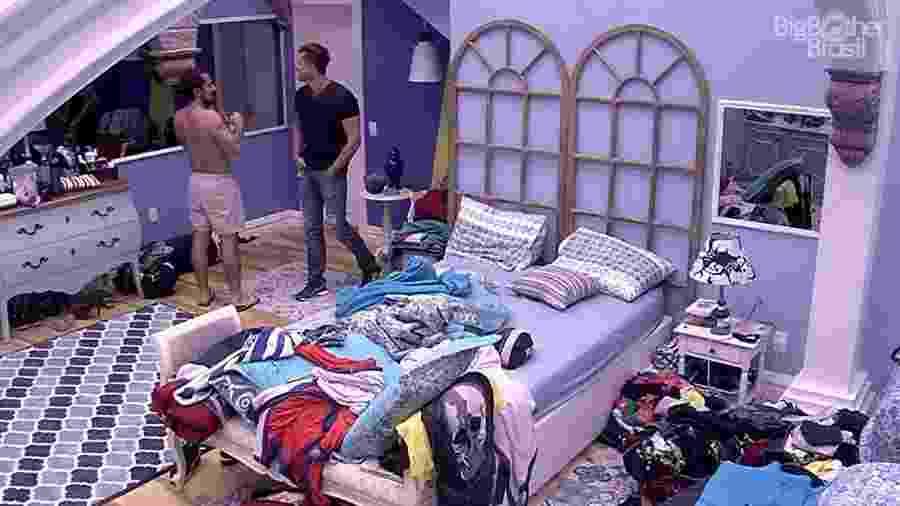 """Rômulo confessou a Marcos que acha que não vai longe no """"BBB7"""" - Reprodução/TV Globo"""