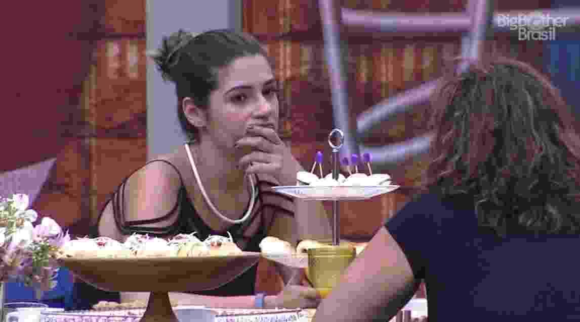 """Vivian diz querer Emilly fora do """"BBB17"""" - Reprodução/ TV Globo"""