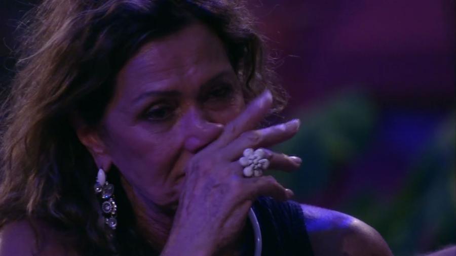 Ieda chora após eliminação de Luiz Felipe - Reprodução/TV Globo