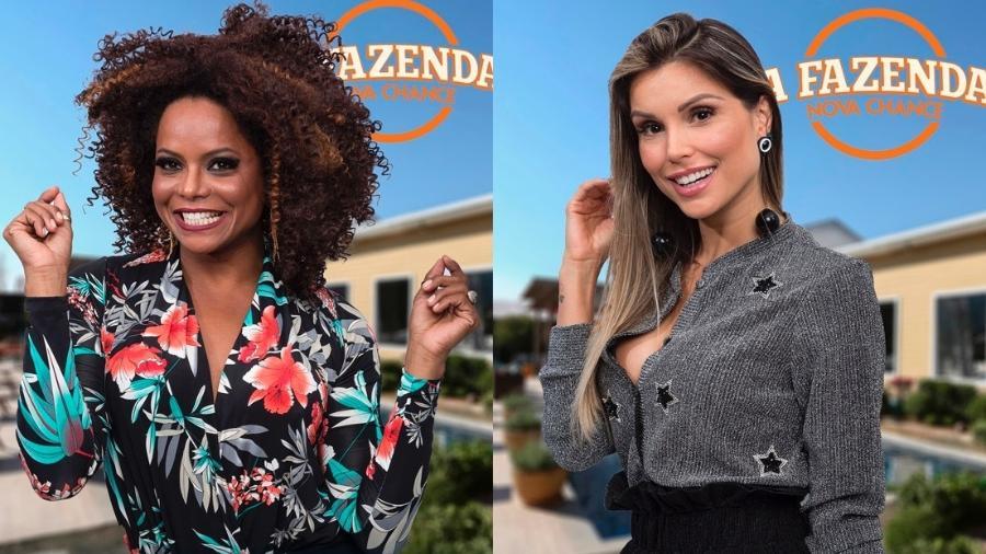 Adriana Bombom e Flávia Viana formam a segunda roça - Montagem/Record