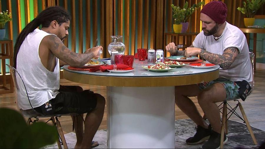Viegas e Caruso participam do almoço do anjo - Reprodução/Gshow