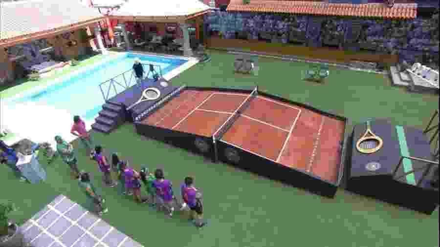 """""""Torneio de tênis BBB"""": prova da comida definiu os """"tá com tudo"""" da semana - Reprodução/TVGlobo"""