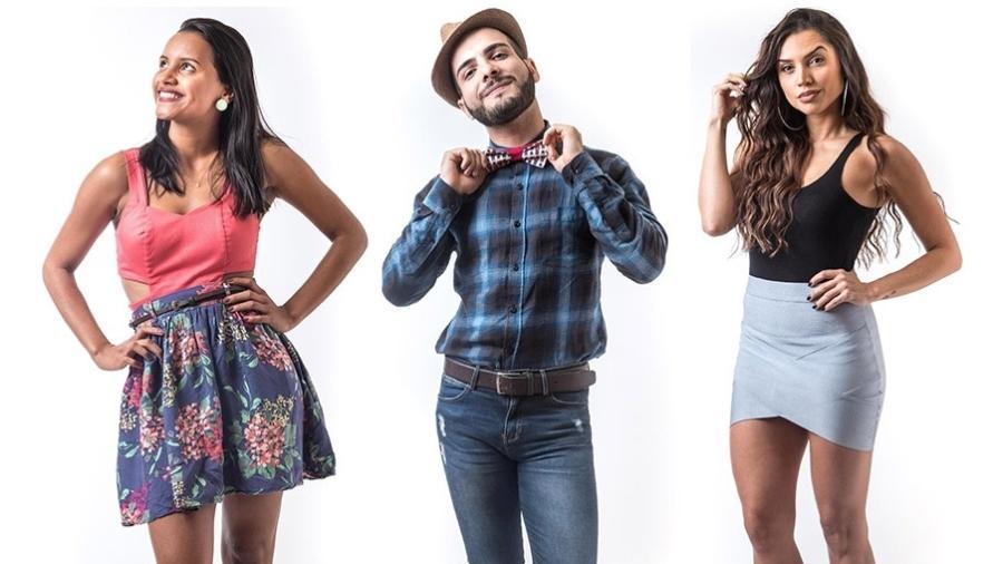 """Gleici, Mahmoud e Paula estão no sexto paredão do """"BBB18"""" - Montagem/Globo/ Paulo Belote"""