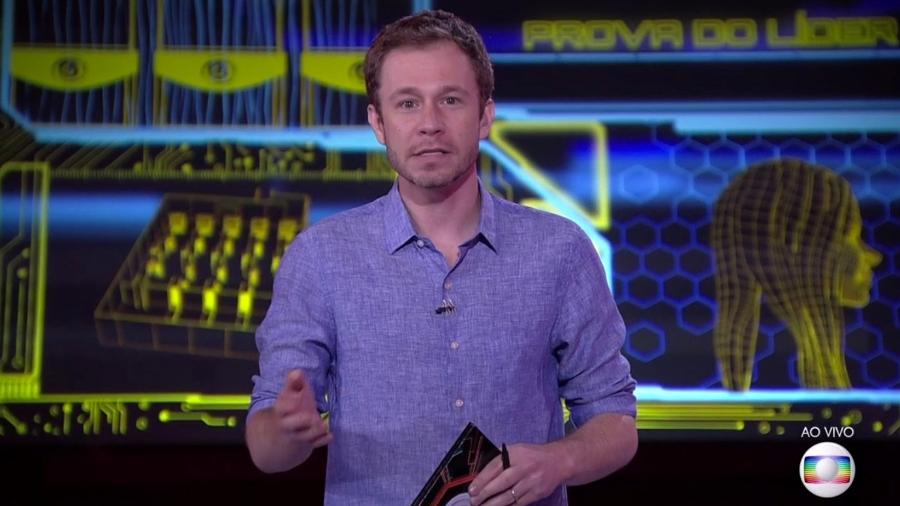 Tiago Leifert dá mais detalhes sobre a oitava prova do líder - Reprodução/TvGlobo