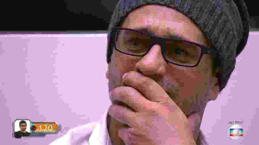 Daniel se emociona antes do resultado do paredão  - Reprodução/TV Globo