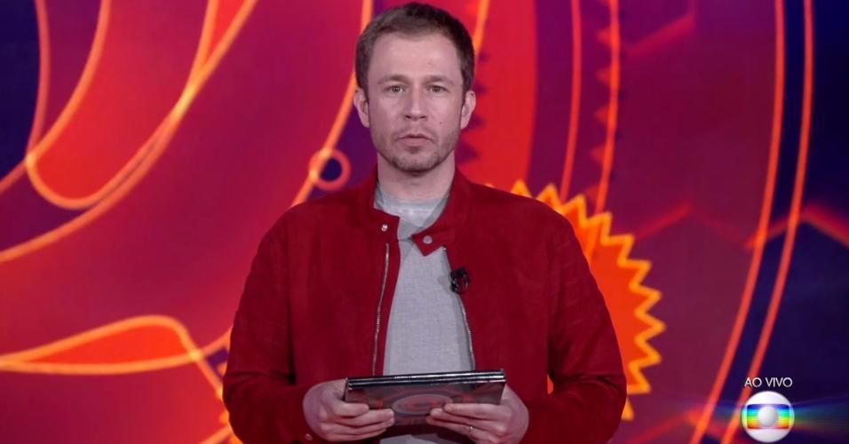 Tiago Leifert fala sobre o grupo Tá com Nada da primeira semana do programa