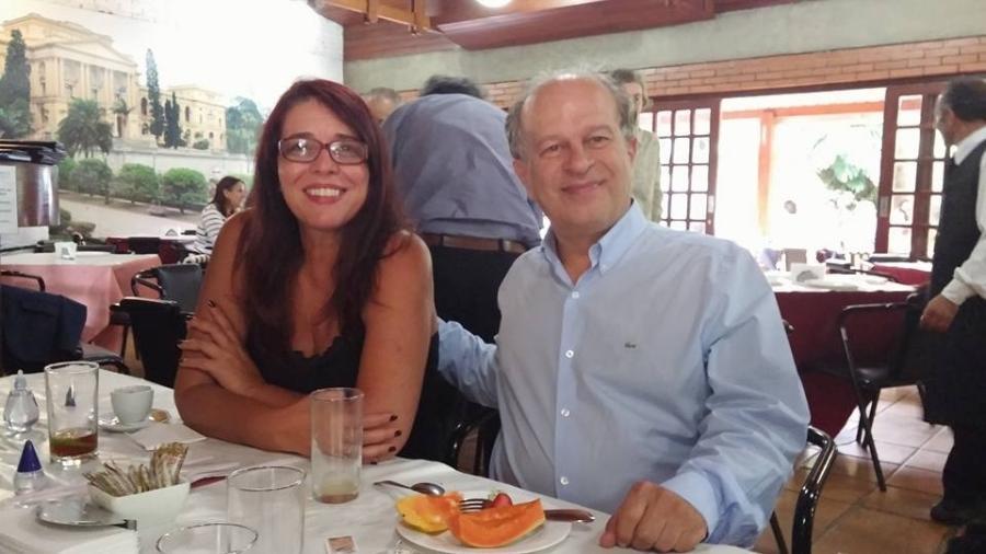 A cientista política Mara Telles e o ex-ministro da Educação Renato Janine Ribeiro, em 2016 - Reprodução/Facebook