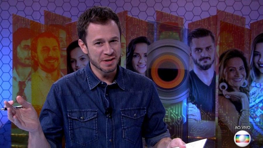 Tiago Leifert anuncia imunidade na prova desta sexta - Reprodução/TV Globo