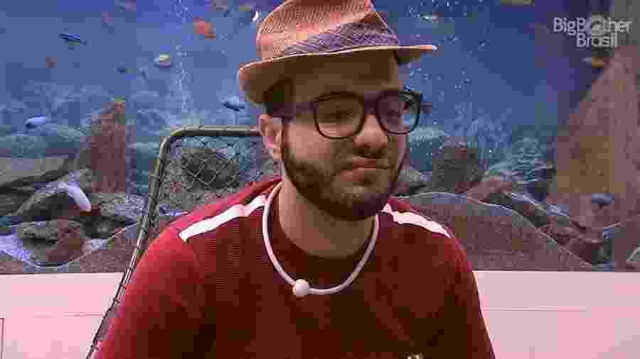 Mahmoud durante o Raio-x, no confessionário - Reprodução/GloboPlay