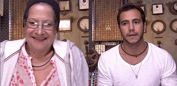 Matheus estreia seu primeiro paredão com dona Geralda, que está enfrentando a berlinda pela segunda vez  - Reprodução/TV Globo