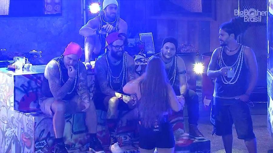 """Brothers não se animaram com a festa """"Funk"""" - Reprodução/GloboPlay"""