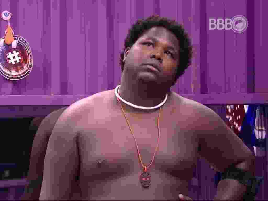 15.fev.2016 - Ronan, que enfrenta Daniel no paredão da próxima terça-feira (16), acredita que ficará na casa - Reprodução/ TV Globo