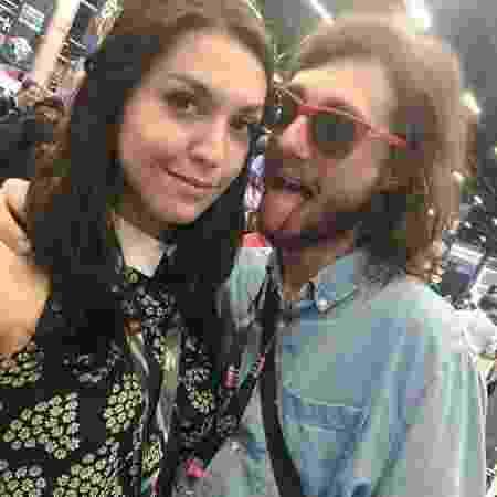 Jornalista Pedro Falcão com a namorada, Lelly Costa - Reprodução/Instagram/ahrielly