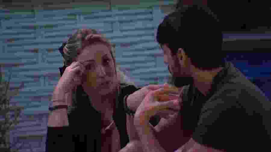 Jéssica e Lucas conversam sobre atitude da sister na prova do líder - Reprodução/GShow