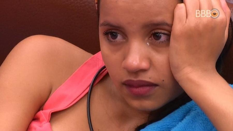 Gleici chora no quarto farol - Reprodução/Globoplay