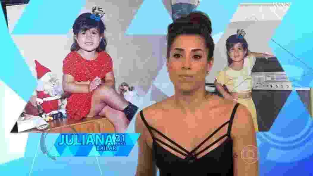 """19.jan.2016  - A participante do """"BBB16"""", Juliana é bailarina - Reprodução TV Globo"""