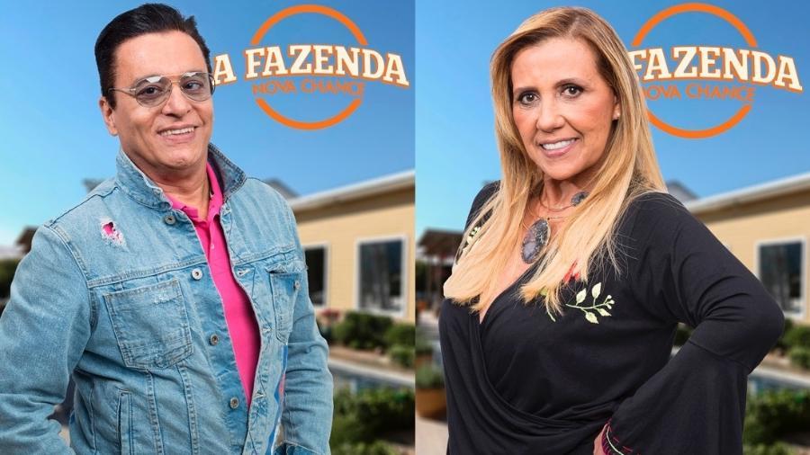 """Nahim e Rita Cadillac formam a quinta roça de """"A Fazenda 9"""" - Montagem/Antonio Chahestian/Record TV"""