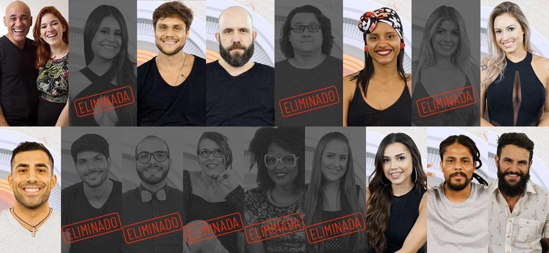 Participantes que continuam na disputa depois do oitavo paredão  - Montagem/Globo/ Paulo Belote