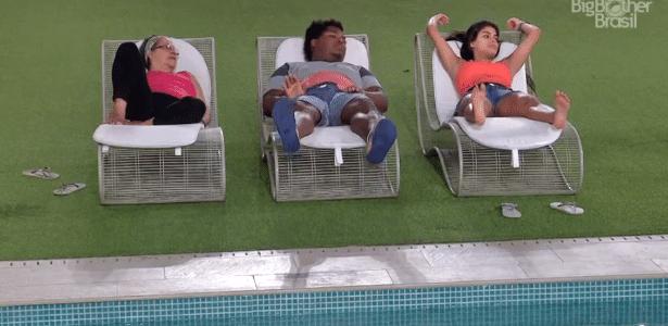 Geralda, Ronan e Munik estão herdando os votos do fã-clube de Ana Paula - Reprodução/TV Globo