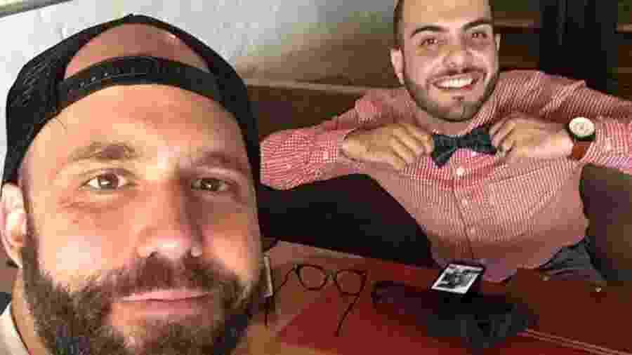 Caruso e Mahmoud almoçam juntos em São Paulo - Reprodução/GloboPlay