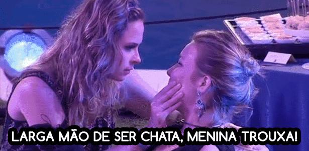 Diva bbb seria melhor se ... cacau - Reprodução/TV Globo e Montagem/Diva Depressão - Reprodução/TV Globo e Montagem/Diva Depressão