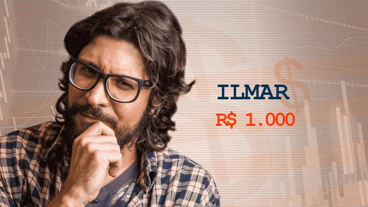Cotação Semana 1 BBB17 Ilmar - Divulgação/TV Globo e Arte/UOL - Divulgação/TV Globo e Arte/UOL