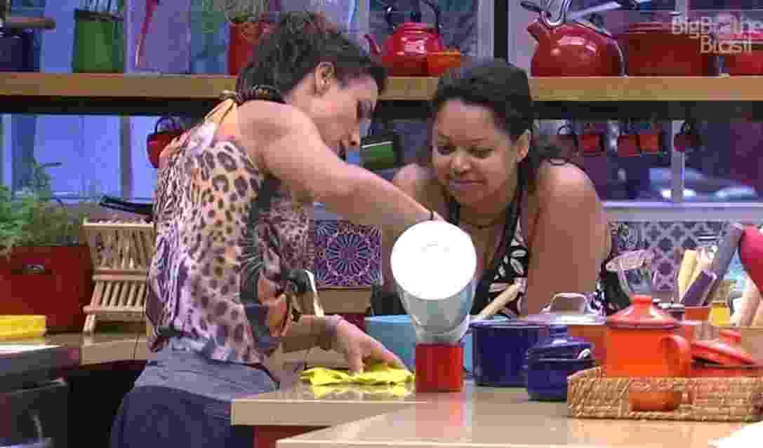 Elis e Marinalva planejam combinar votos - Reprodução/TVGlobo