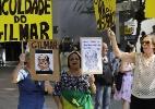 Manifestantes protestam contra Gilmar Mendes em São Paulo - Nelson Antoine/Estadão Conteúdo