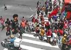 Protesto de profissionais de segurança deixa trânsito complicado no Centro - Monitoramento/CTTU