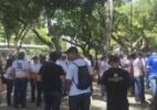Profissionais de segurança protestam contra a Reforma da Previdência na Praça do Derby - Foto: Reprodução Rádio Jornal