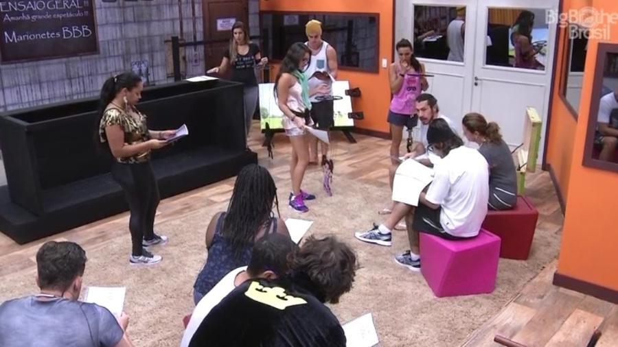 Brothers ensaiam peça de teatro em prova do anjo - Reprodução/TV Globo