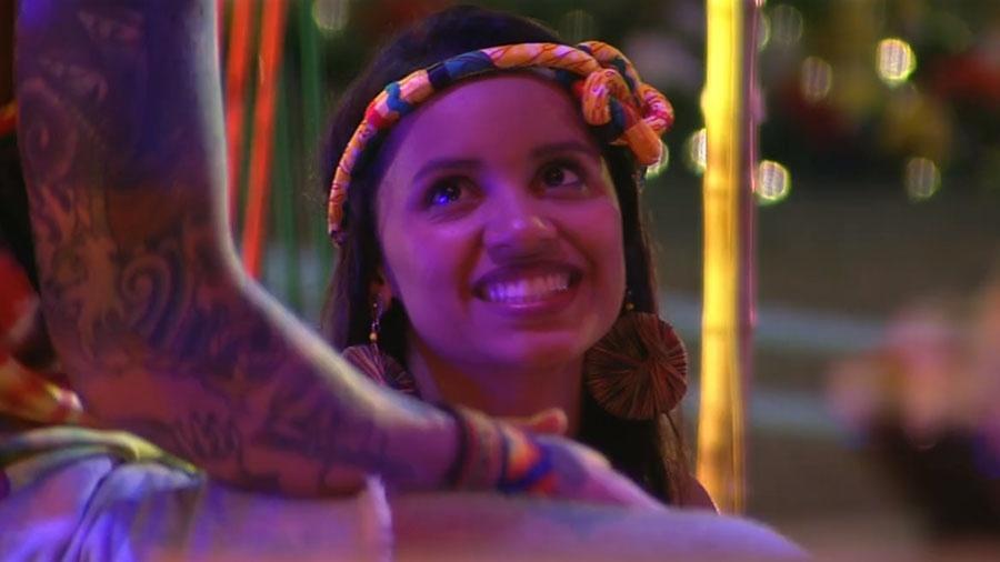 """Gleici curte festa """"Reggae"""" ao lado de Wagner - Reprodução/GloboPlay"""