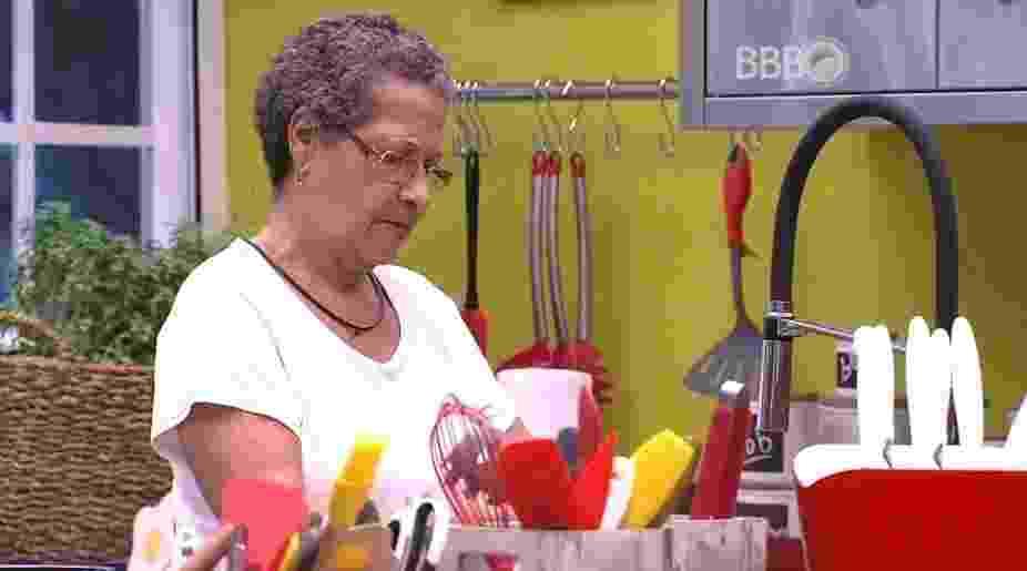 """18.mar.2016 - Geralda acredita que será a indicação da líder Maria Claudia no próximo paredão do """"BBB16"""" - Reprodução/TV Globo"""