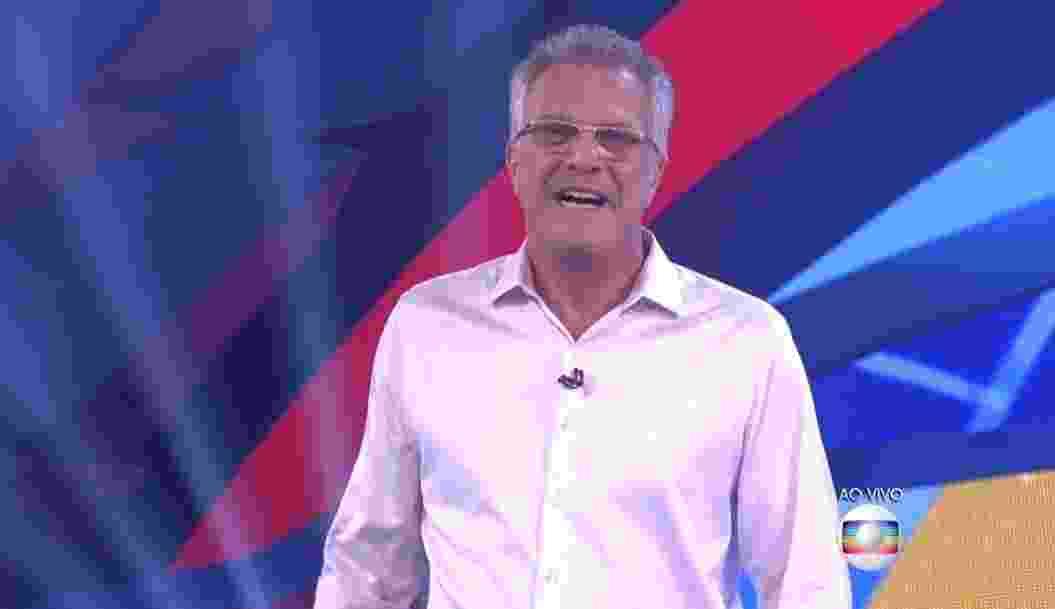 5.fev.2016 - Pedro Bial anuncia que próximo paredão será falso e ninguém será eliminado - Reprodução/TV Globo