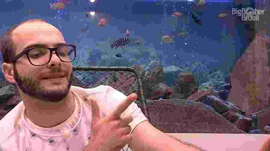 """Mahmoud durante o Raio-x no """"BBB18"""" - Reprodução/GloboPlay"""