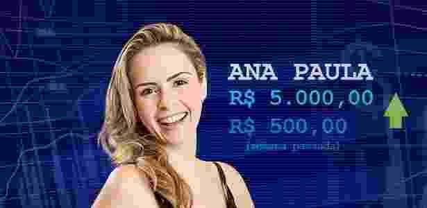 Cotação Ana Paula - Divulgação/Globo e Arte UOL - Divulgação/Globo e Arte UOL