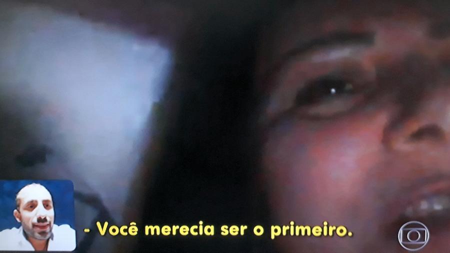 """Diana Dadour, mãe de Kaysar, fala com o filho pela primeira vez após o fim do """"BBB18"""" - Reprodução/TV Globo"""