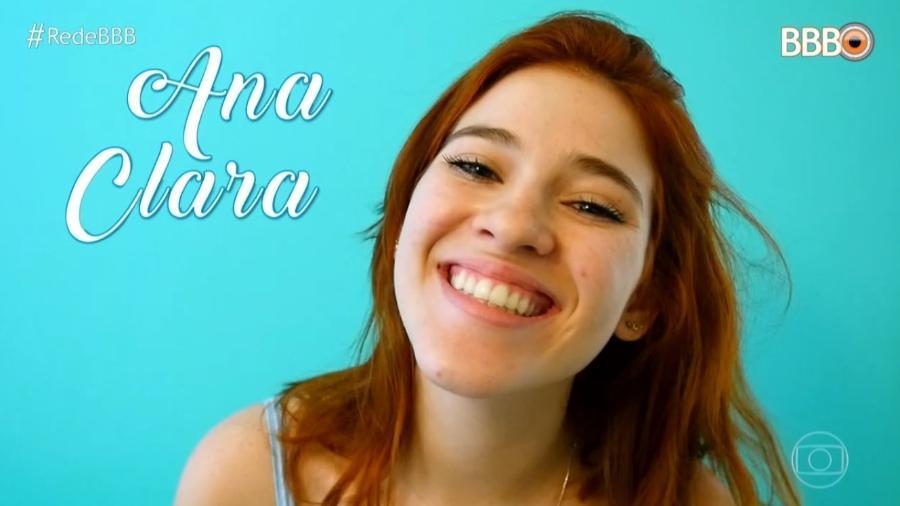"""A participante Ana Clara faz parte da família que entrou no """"BBB18"""" - Reprodução/TVGlobo"""