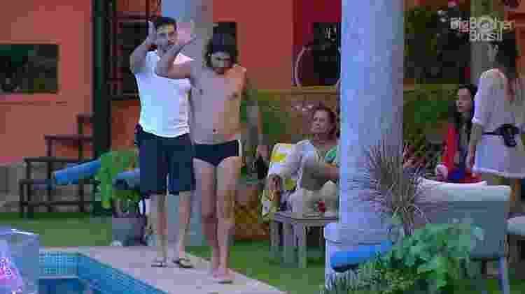 Ilmar e Marcos brigam - Montagem/TV Globo - Montagem/TV Globo