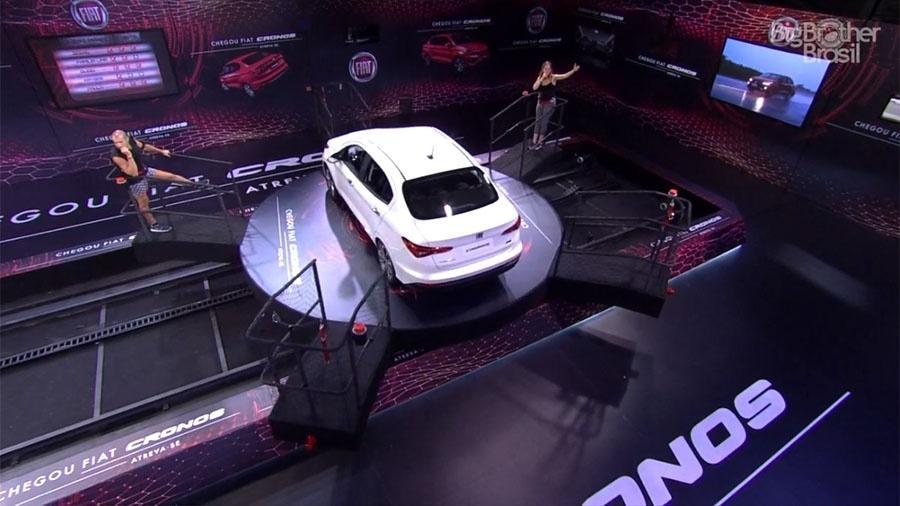 Kaysar e Ana Clara disputam a imunidade e um carro na prova de resistência - Reprodução/GloboPlay
