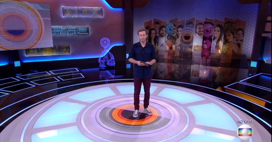 24.jan.2017- Tiago Leifert, apresentador do