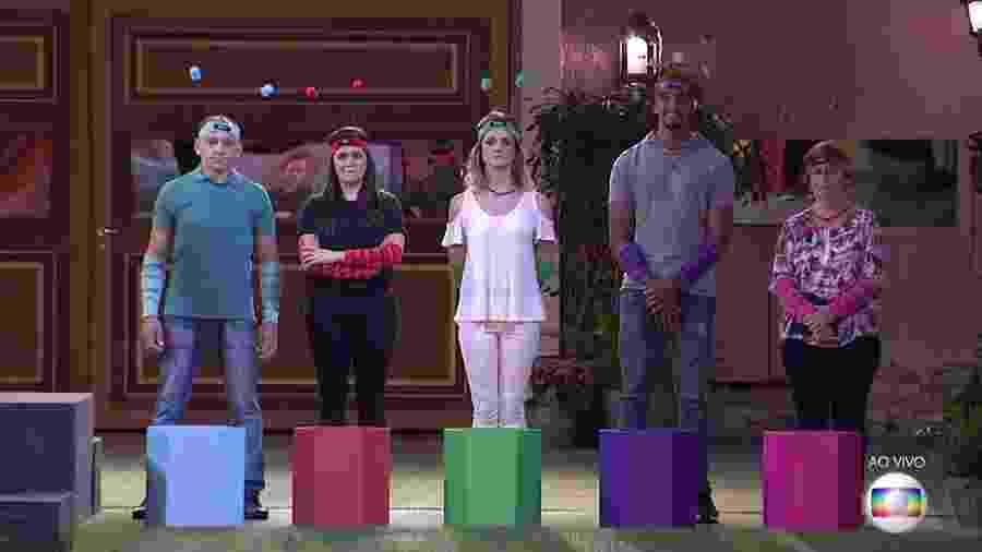 """Familiares dos participantes do """"BBB17"""" disputam prova do líder - Reprodução/TV Globo"""